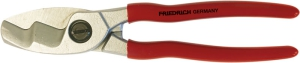 Cable cutter with double cutting blade, dip insulated