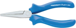 Langbeck-Flat-Nosed Plier, Comfort-Grip blue, DIN ISO 5745