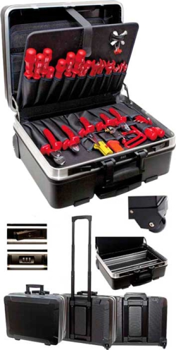 "VDE Tool Case Trolley ""SERVICE"", 32 parts"