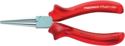 Round Long Nose Plier, Comfort-Grip red-transparent, DIN ISO 5745