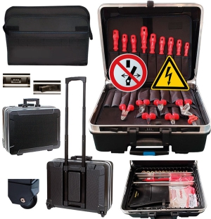 "VDE Tool Sets Trolley ""E-Kit 1-4"", 38/39/40 parts"