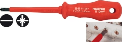 Duo-Plus Combi Screwdriver for flat and pozidriv screws
