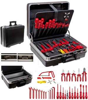 "VDE Tool Case ""SERVICE"", 32 parts"