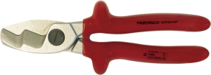Cable Cutters with double cutting edge, multilayer safety dip-insulated