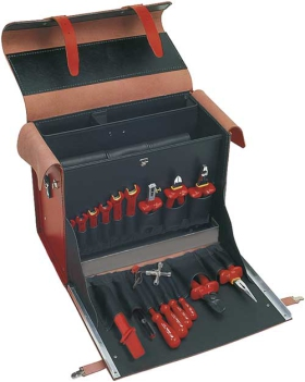 "VDE Leather Tool Case ""Multipro"", 24 parts"