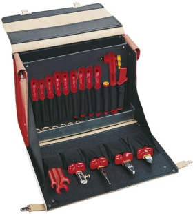 "VDE Leather Tool Case ""Standard"", 30 parts"
